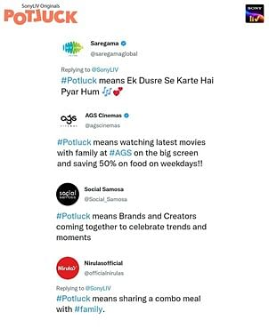 SonyLIV launches campaign #Potluck; gets quirky responses from multiple brands