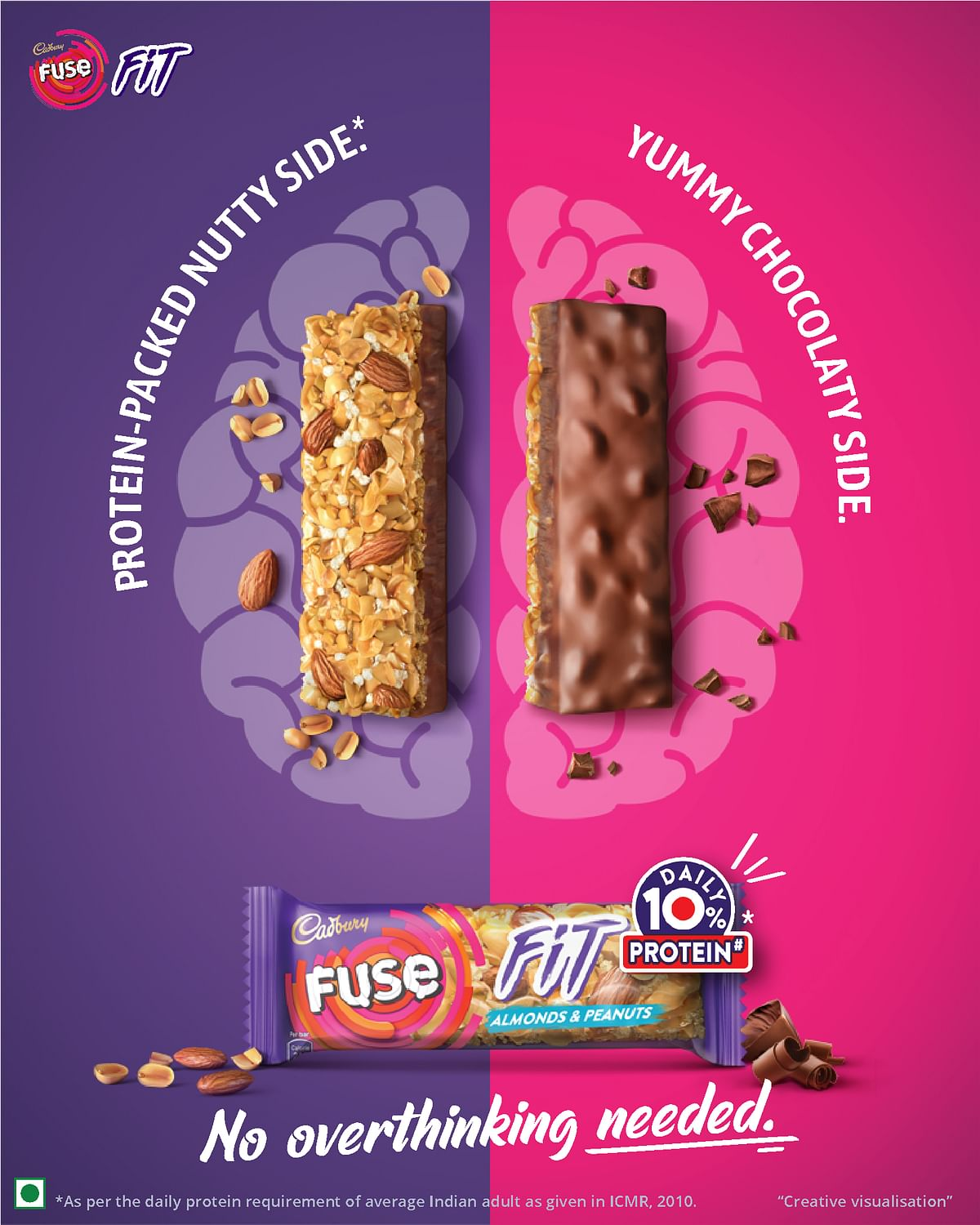 Mondelez forays into snacking bar category with launch of Cadbury Fuse Fit