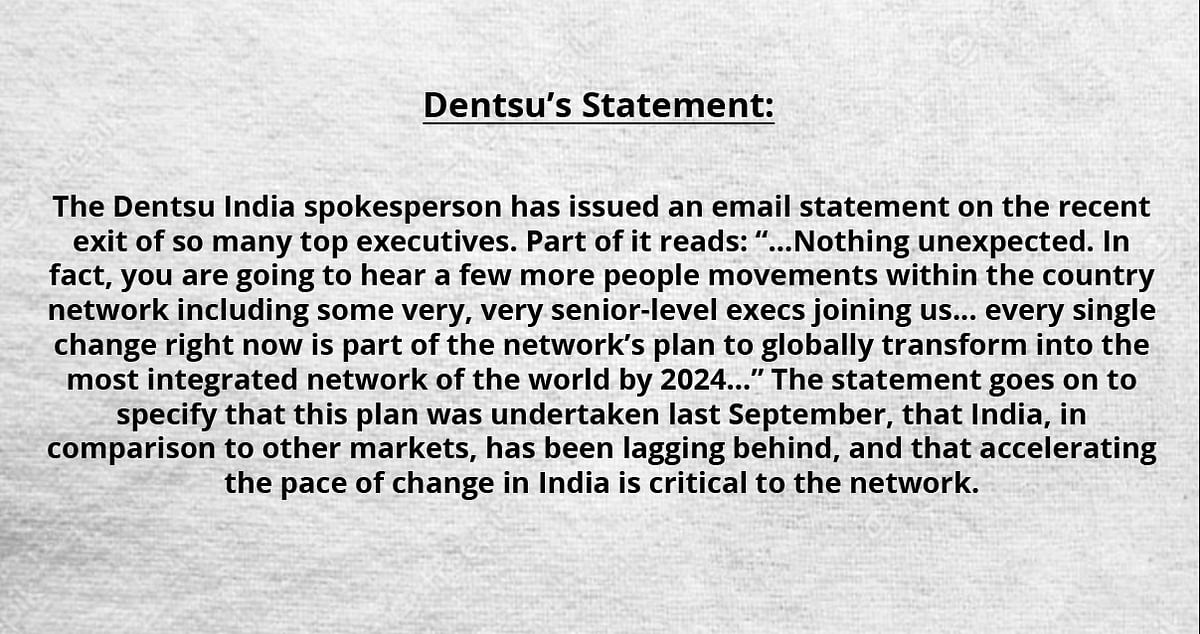 What exactly is happening at dentsu in India?