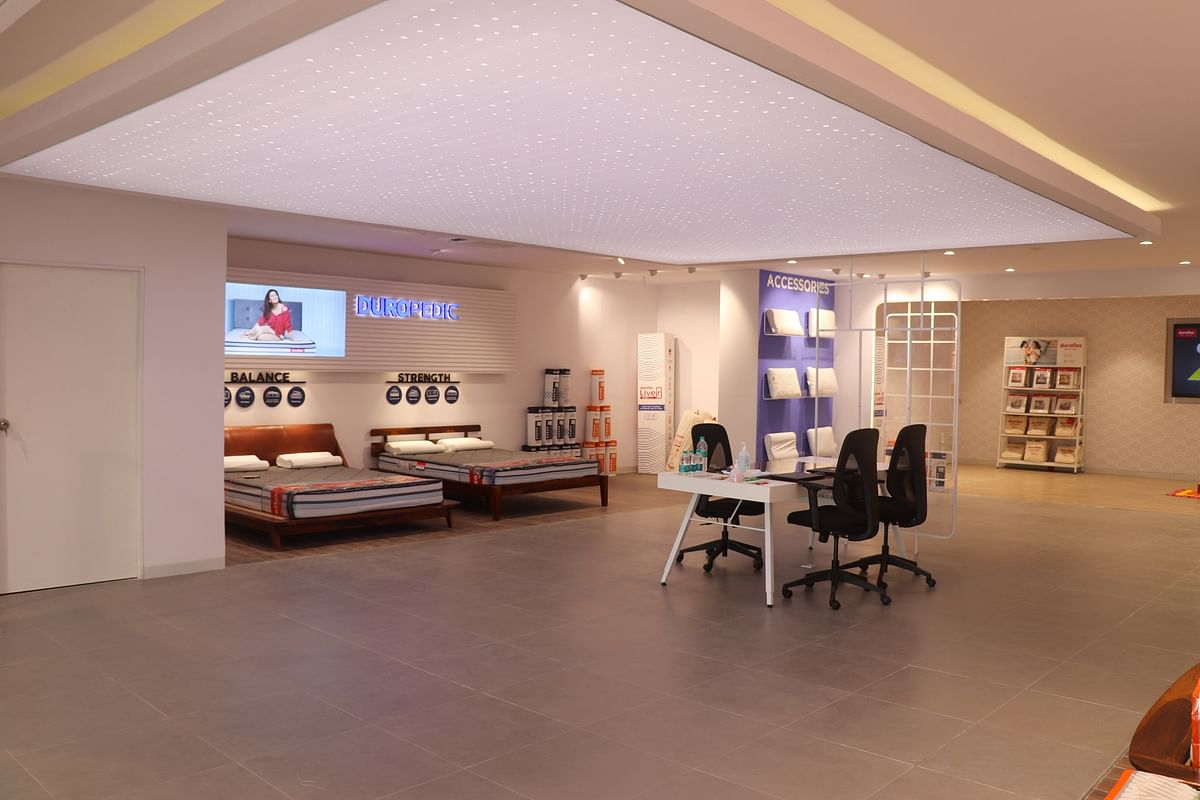 Duroflex also displays their range of Work-from-Home furniture at the store