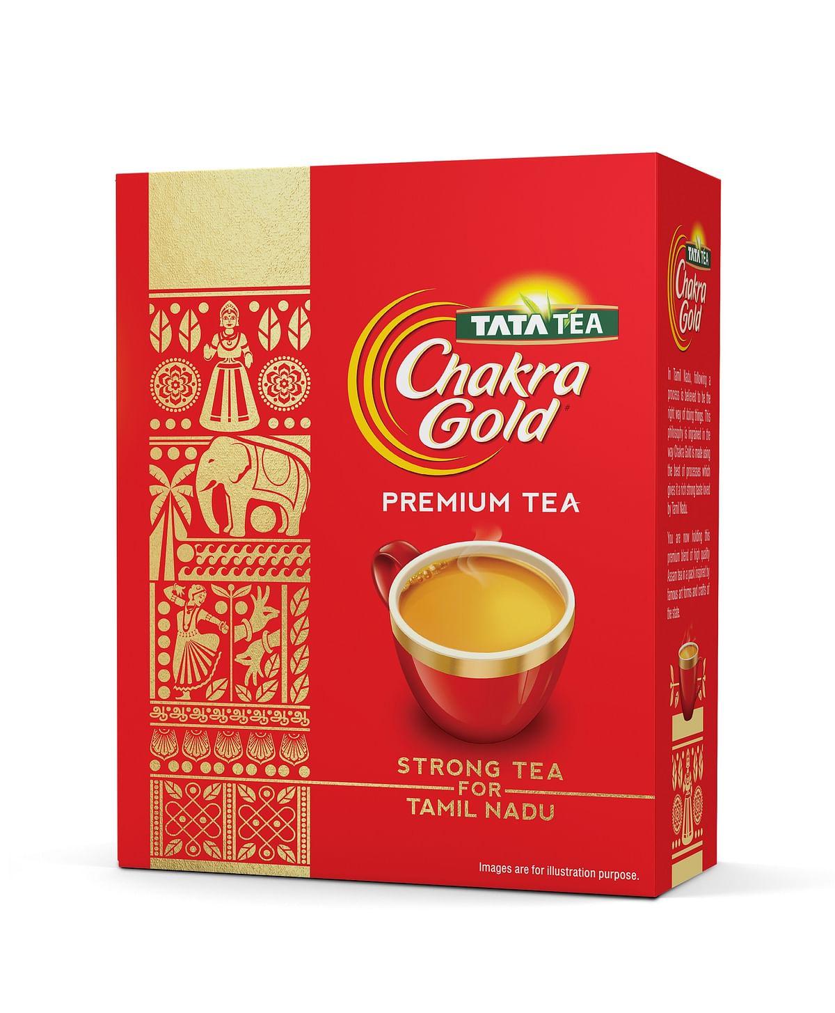 Tata Tea Chakra Gold celebrates Tamil Nadu with new packaging and sand art installation