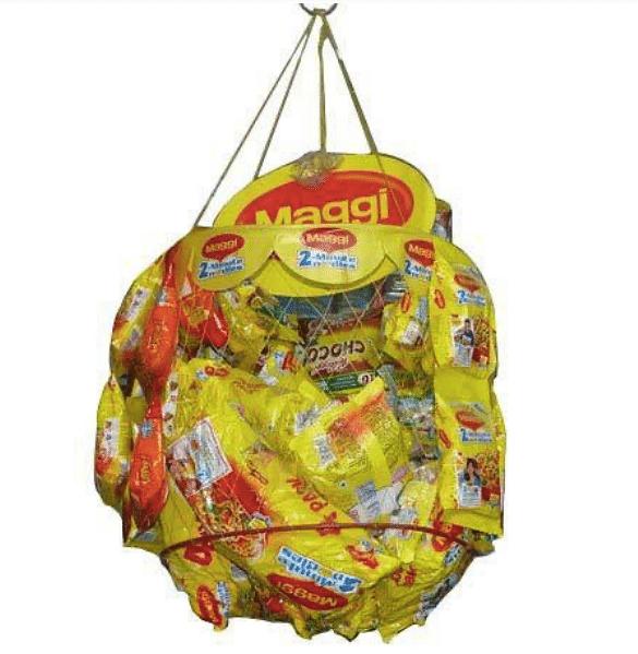 Maggi baskets at kirana stores