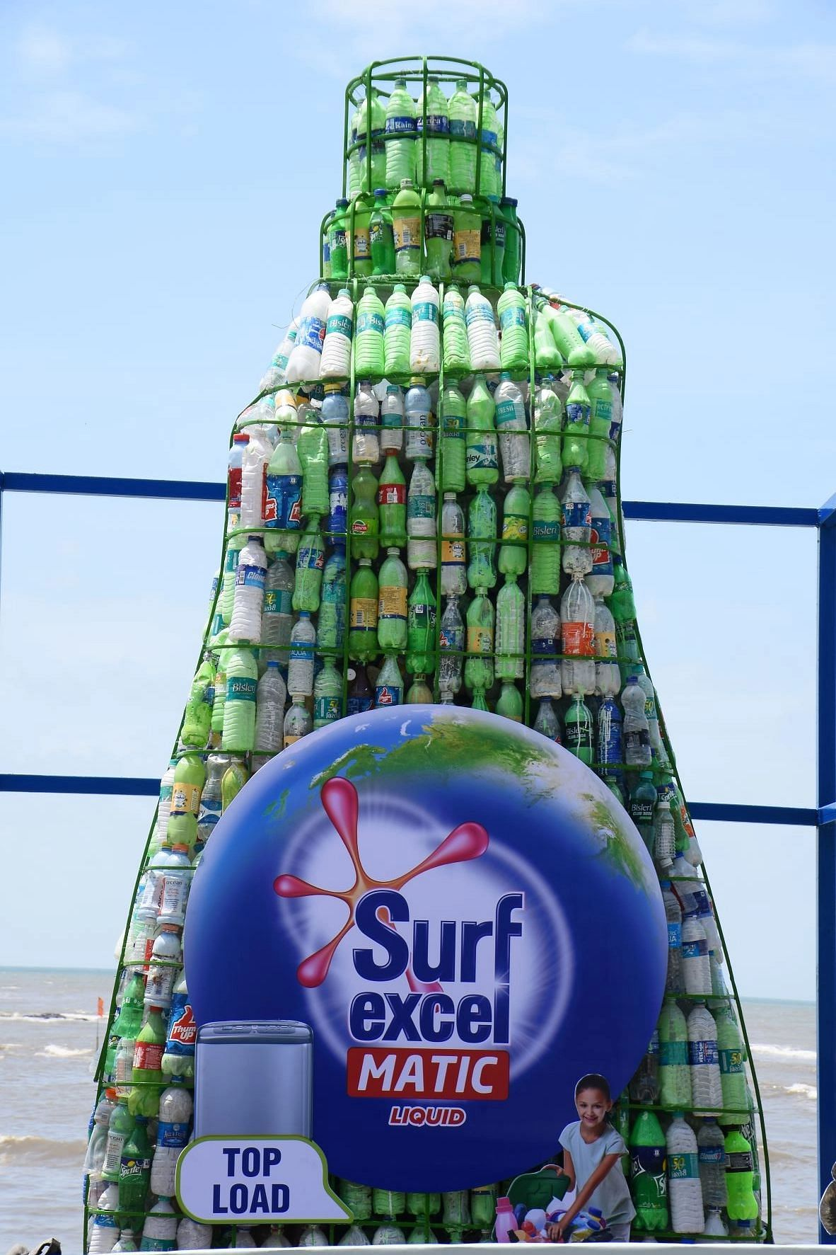 Surf Excel Matic's bottle installation aims to reduce plastic wastage