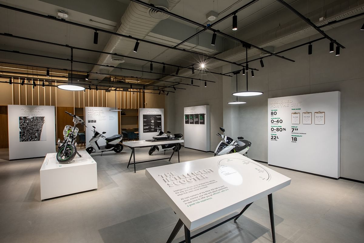 Ather Energy's offline experience center