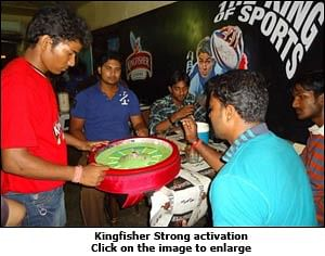 Kingfisher spins Cricket-Roulette in bars