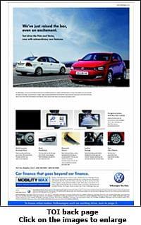 Volkswagen creates tremor in print