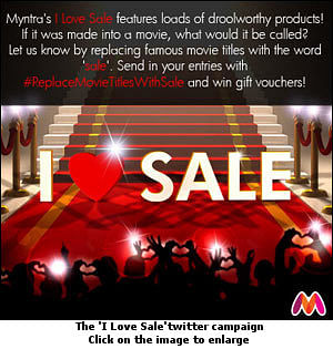 Myntra generates love for sale on Twitter