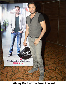 Channel V to launch Gumrah Season 4, with Abhay Deol