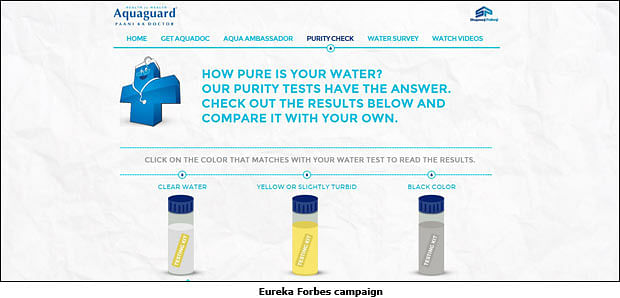 Eureka Forbes Gives out Free Water Test Kits