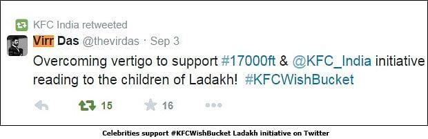 KFC: Turning clicks into bricks at Ladakh