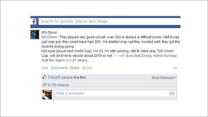 Facebook shares data on India-Australia semifinal