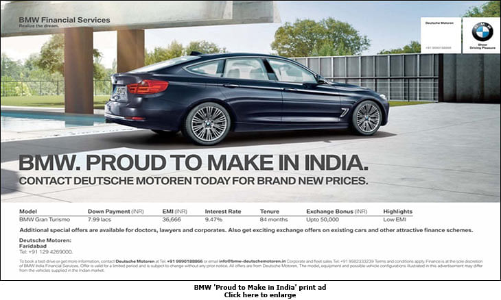 """""""Media in India is really expensive"""": BMW"""