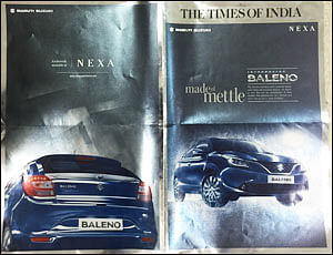 Baleno shines bright in its print ad