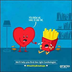 """Let's break up,"" says Practo this Valentine's Day"