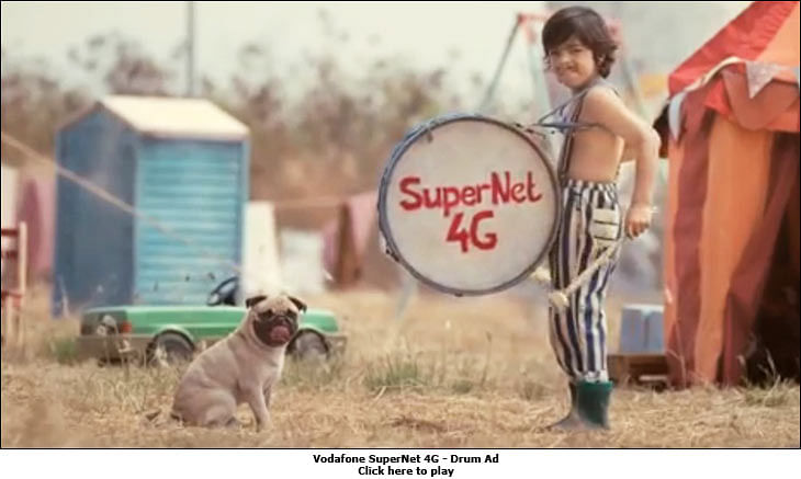 Vodafone brings back the pug to fight the Airtel girl