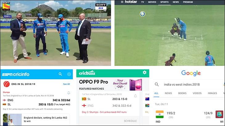 TV, Streaming, Apps, Google: What role does each play in the world of cricket scores?