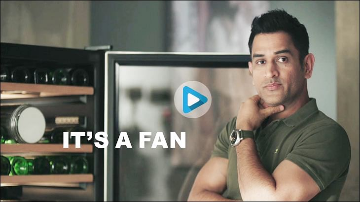 """Dhoni teases """"fans"""" in Orient Electric's latest campaign"""