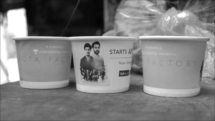 CupShup promotes TVF's original web series Kota Factory through tea cups