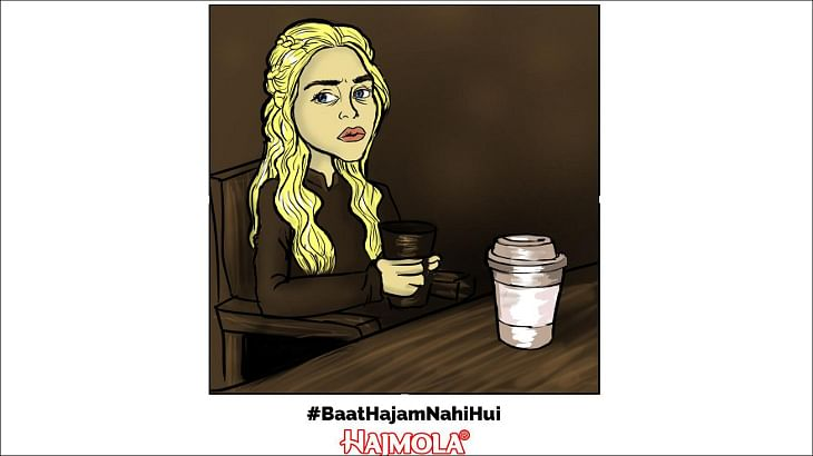 Hajmola pulls an Amul; puns on Game of Thrones' coffee cup blooper