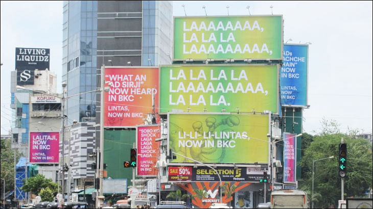 Lintas leverages outdoor ads with copy from older ads to announce shift in office address