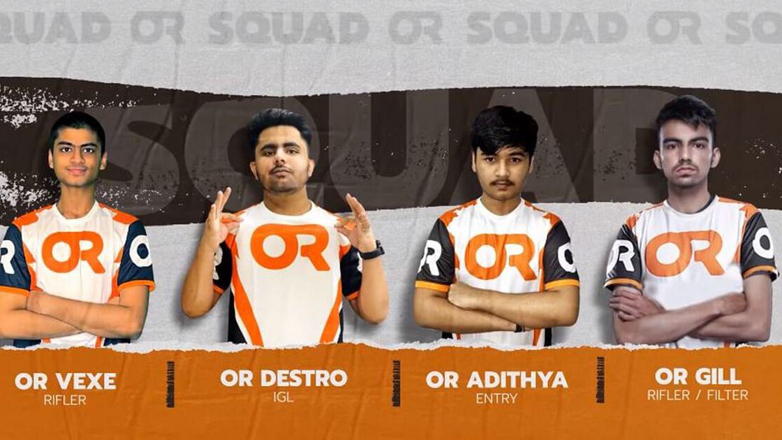 Orange Rock Esports reveals BGMI roster.