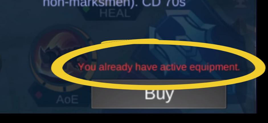 """<div class=""""paragraphs""""><p>Players can only purchase one active equipment.</p></div>"""