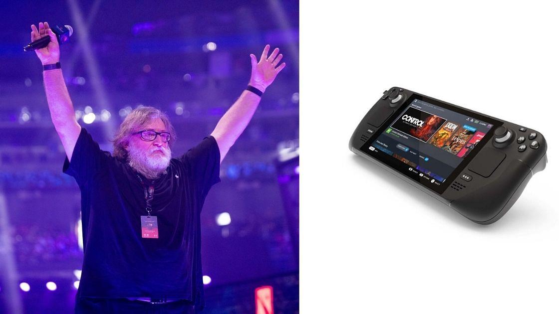 GabeN Plays Dota 2 on Valve's 'Steam Deck'.