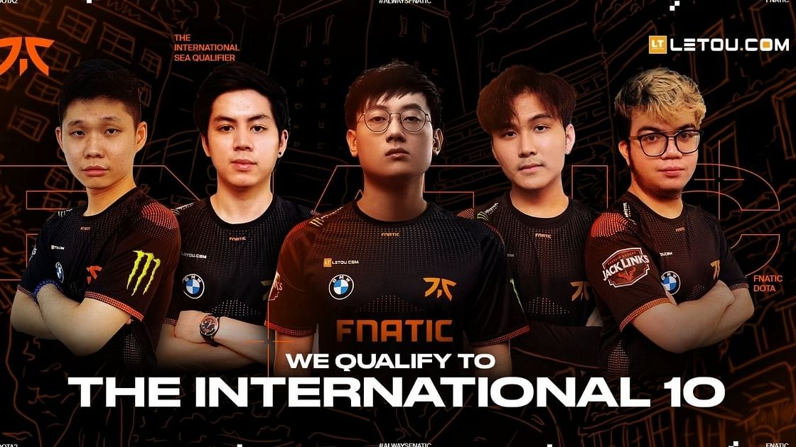 Fnatic's roster that will head to TI10