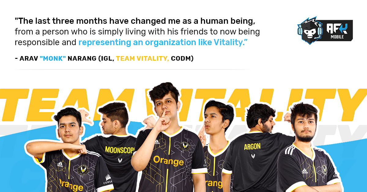 """<div class=""""paragraphs""""><p>Interview With Team Vitality COD Mobile - The Journey So Far</p></div>"""