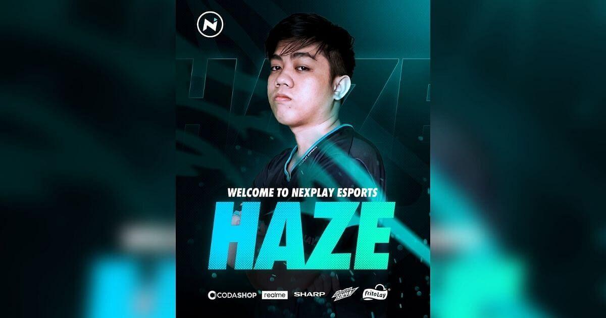 """<div class=""""paragraphs""""><p>Nexplay Esports signs Haze</p></div>"""