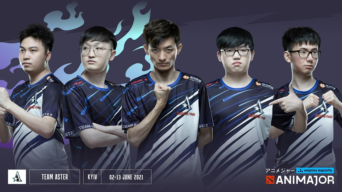 """<div class=""""paragraphs""""><p>Team Aster's roster at the WePlay AniMajor</p></div>"""