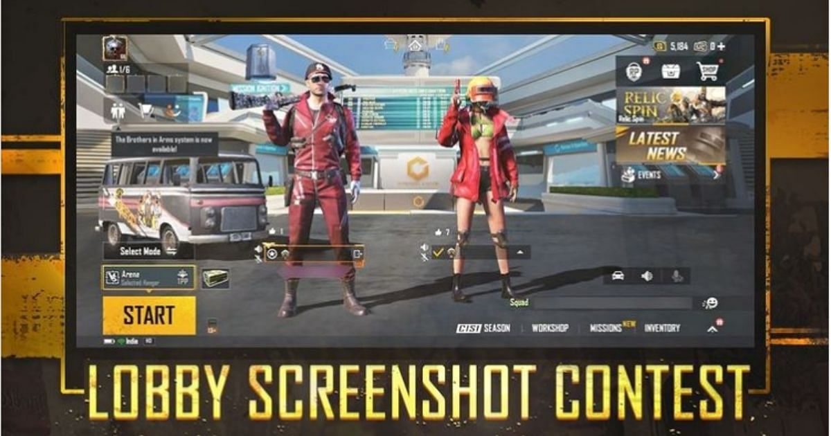 Squad up with friends to participate in the BGMI Lobby Screenshot Contest.