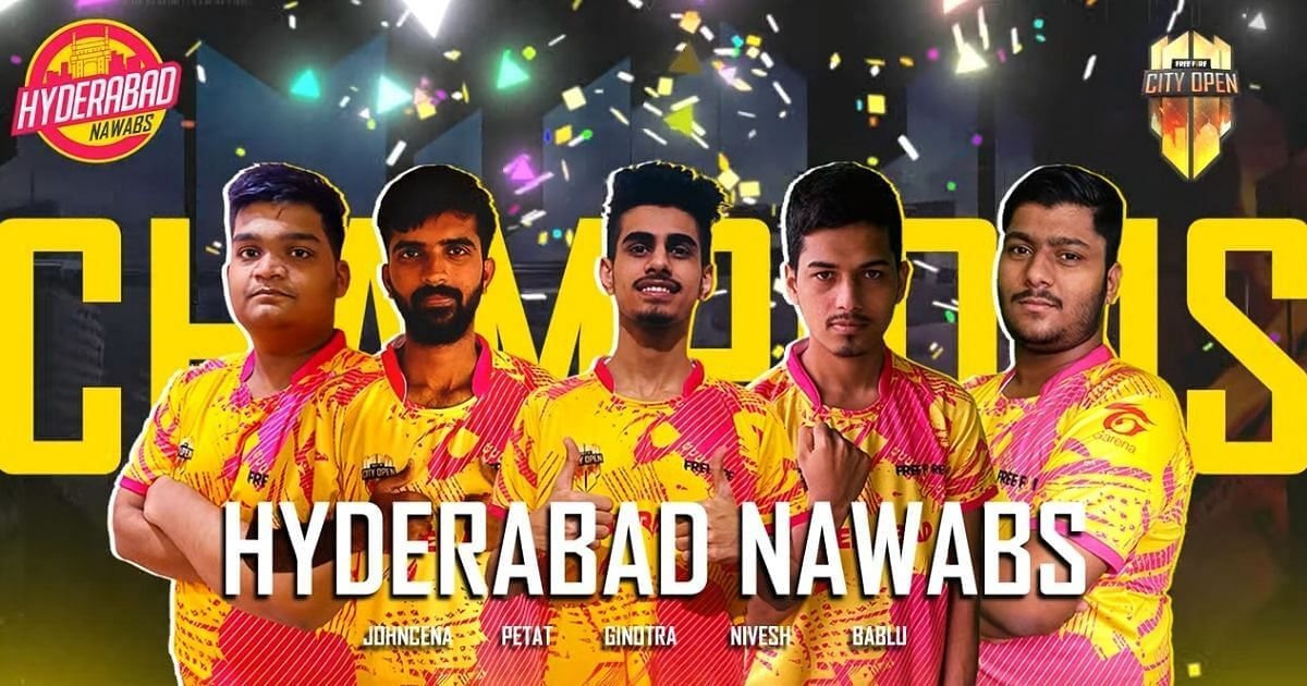 Hyderabad Nawabs Are The Free Fire City Open (FFCO) India 2021 Champions