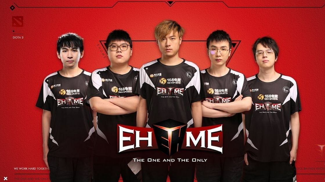 EHOME's roster that compete in TI10's China qualifier