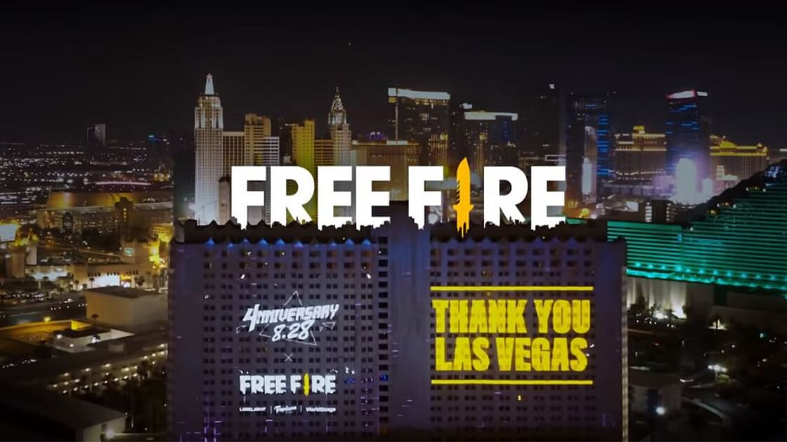 Free Fire Achieved World Record for Largest Projected Video Game Display in Las Vegas