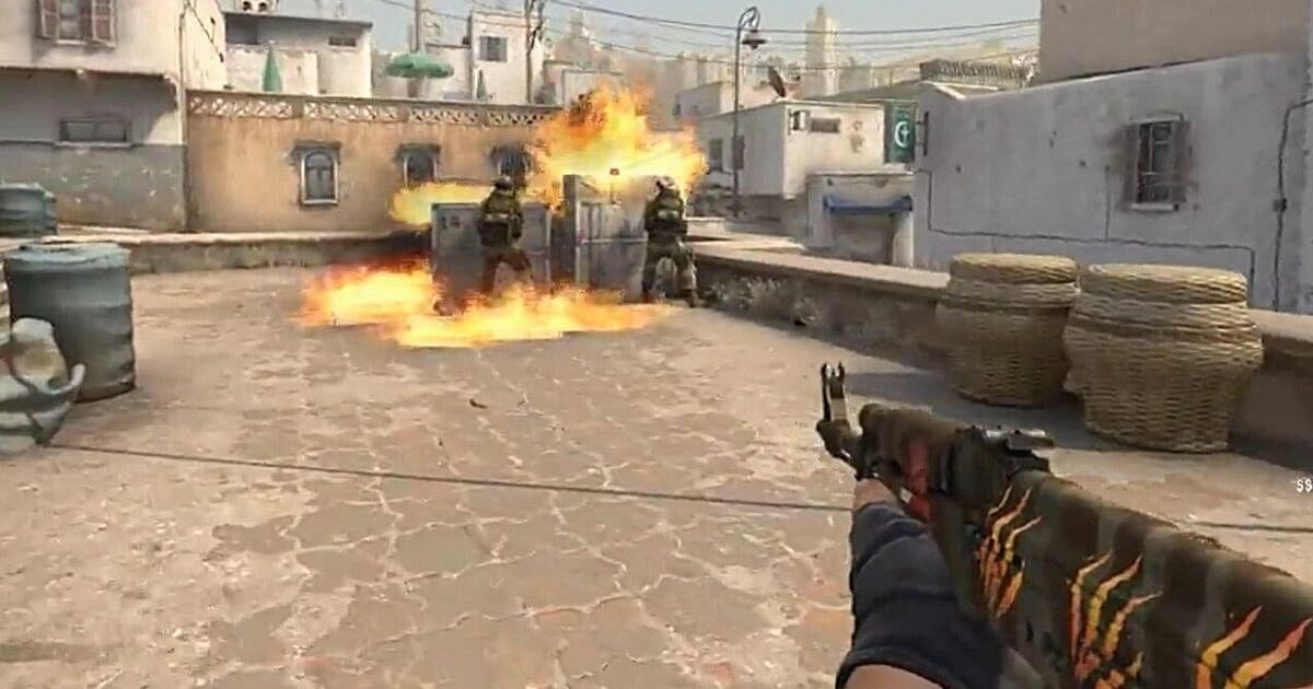 Aggressive Molotov Lineup To Push CT Out Of A-Site On Dust 2