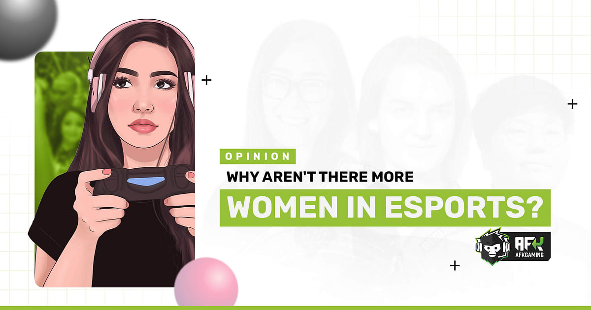 """<div class=""""paragraphs""""><p>Why aren't there more women in esports?</p></div>"""