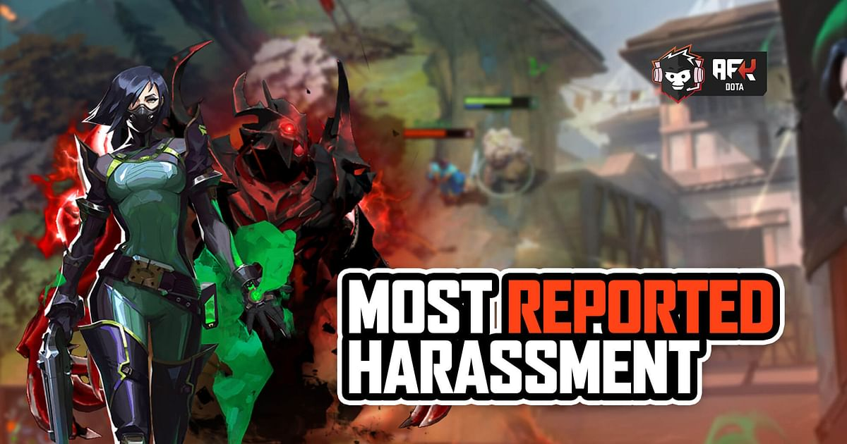 Valorant ranked first with 79% of players reporting harassment in the game, followed closely by Dota 2 with 78%.