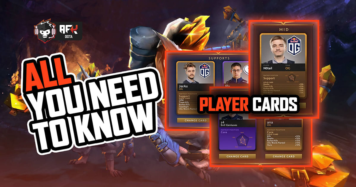 Dota 2 Player Cards will be used for an upcoming Fantasy League