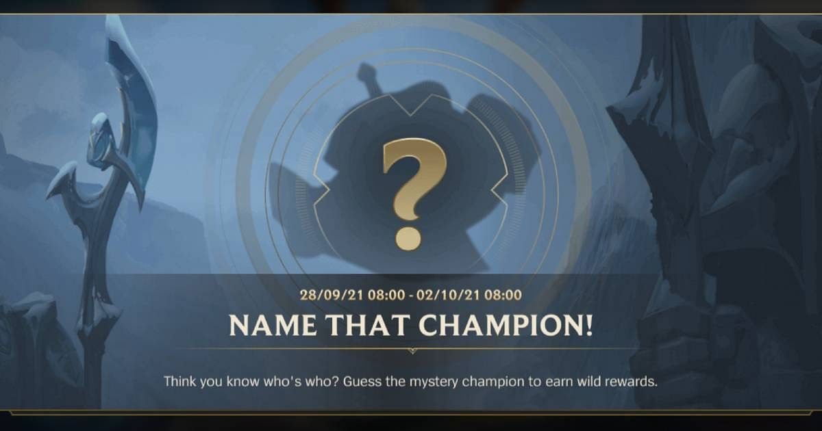 Wild Rift: Name That Champion Event is Now Live