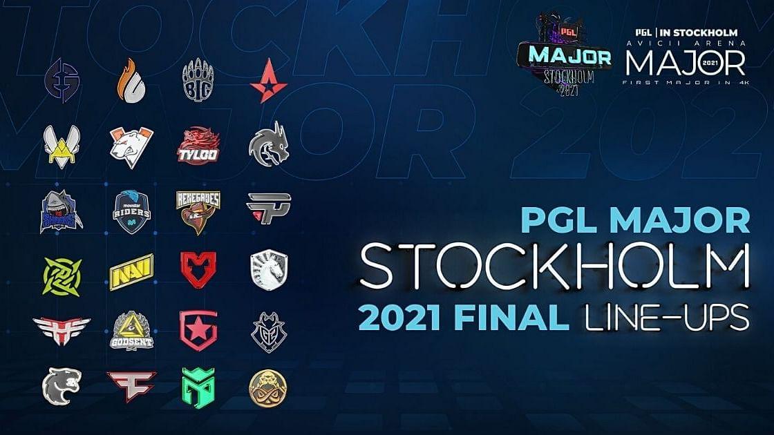 CS:GO Rosters Locked For PGL Major Stockholm 2021