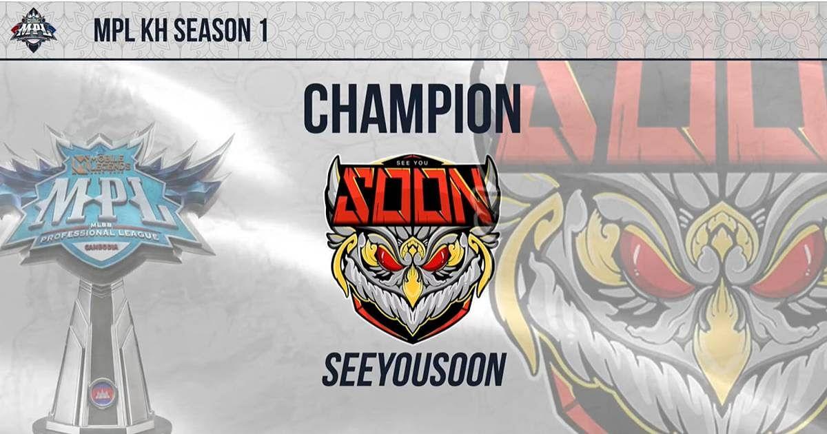SeeYouSoon Won MPL Cambodia (KH) Season 1