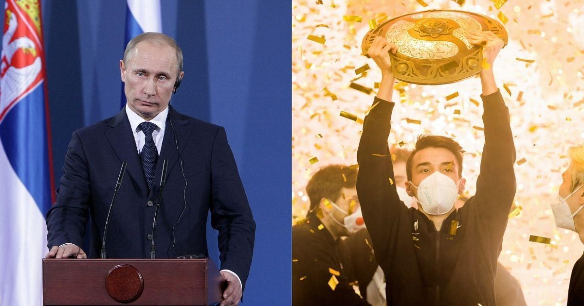 Russian President Vladimir Putin Congratulates Team Spirit For TI10 Victory