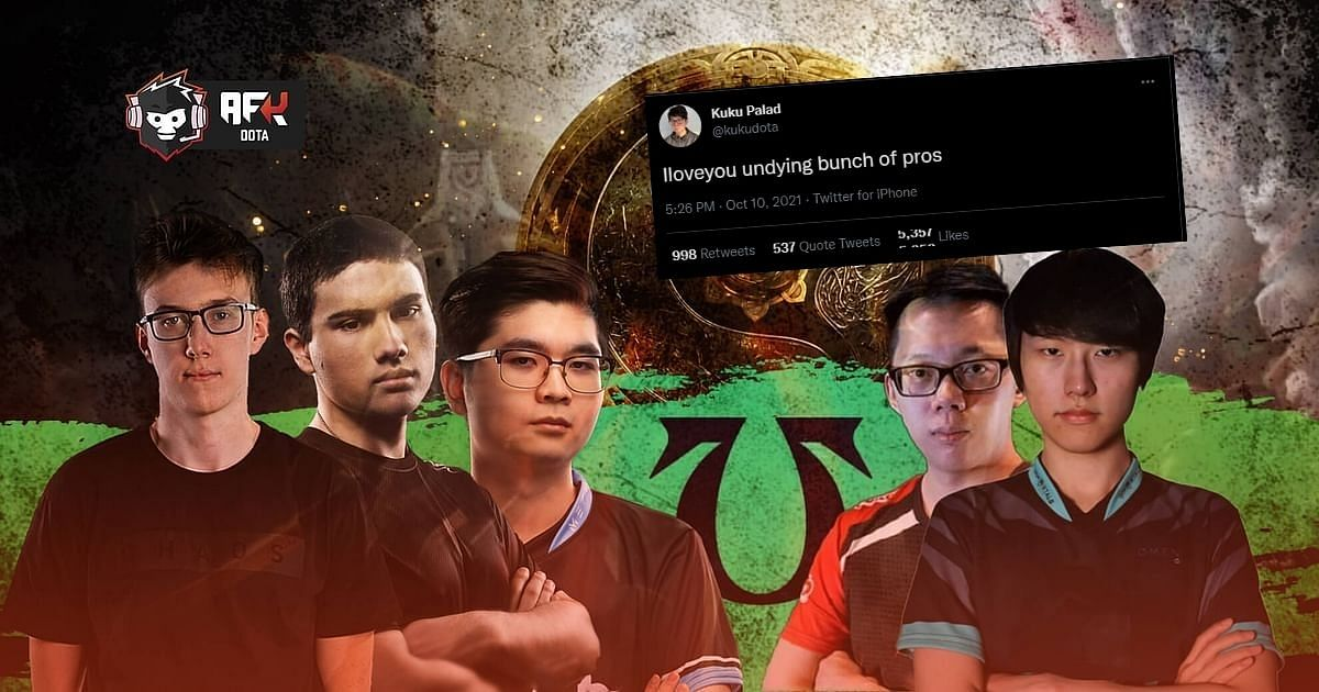 Members of T1 and Team Undying were involved in a wholesome Twitter exchange