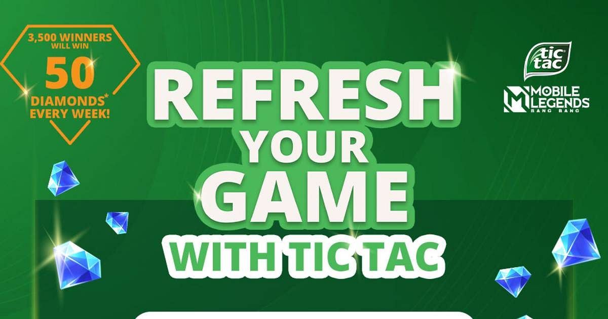 """Mobile Legends: """"Refresh Your Game With TicTac"""" Win up to 1000 Diamonds, Skins, and More"""