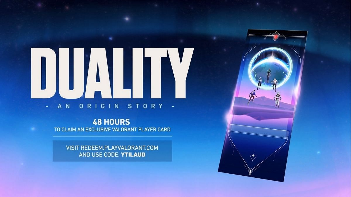 Duality Valorant Player Card: How to Get? Where to Redeem?