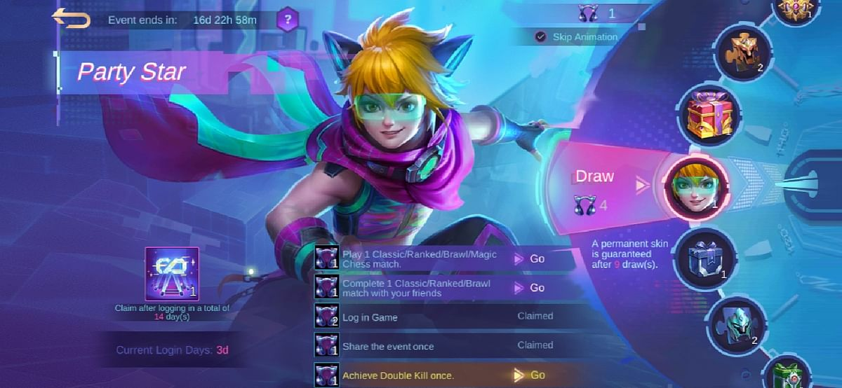 515 Party Star Event Revealed: Win Free Harith Skin