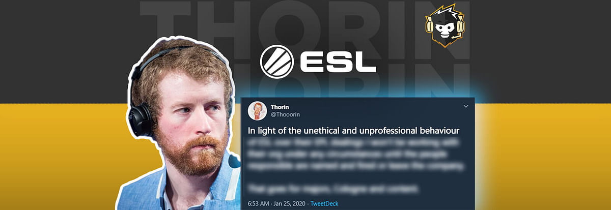 Thorin calls out ESL over Alleged Unethical Pro League Dealings