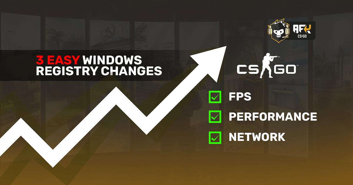 How to Increase FPS in CS:GO With Easy Windows Registry Tweaks