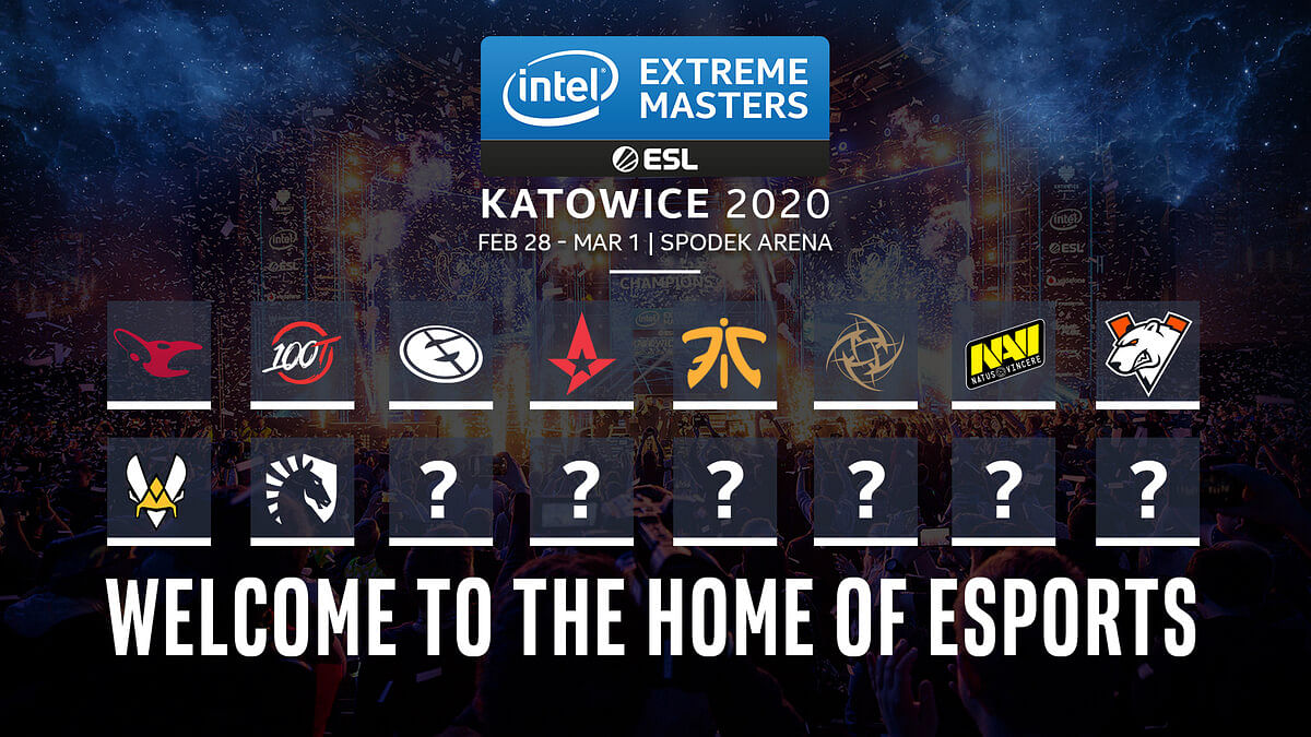 Direct Invites Announced for IEM Katowice 2020